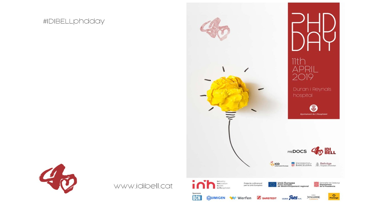 AROMICS' Ceo Dr. Plasencia will be present at PhD day of IDIBELL