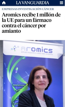 AROMICS receives 1 Million Euros to advance in its therapy for cancer